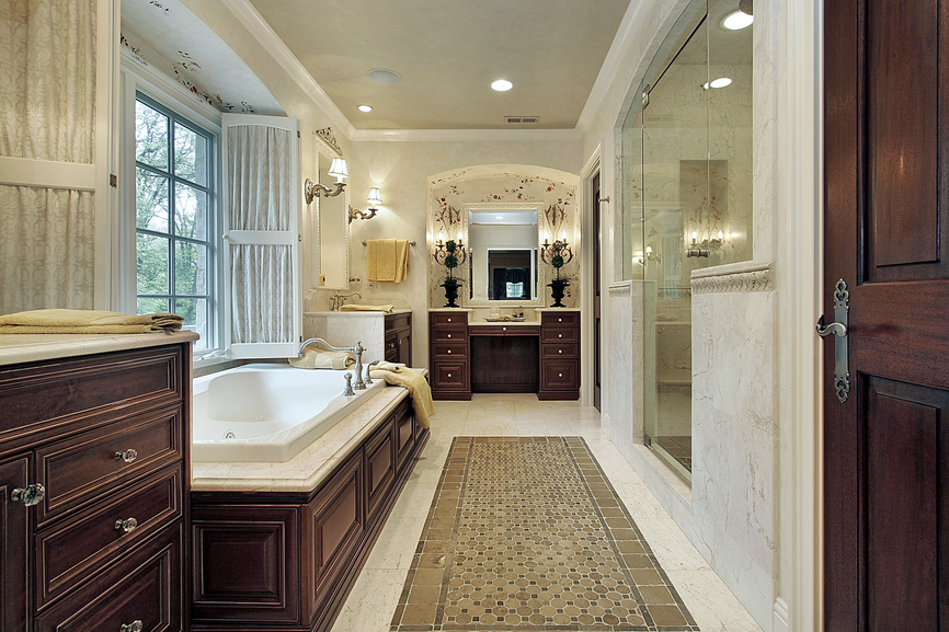 52 primary bathroom designs with beautiful woodwork