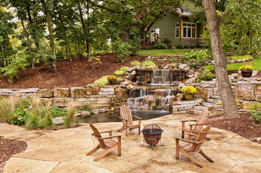 60 Outdoor Garden Landscaping Step Ideas | Patio With Steps To Garden | Sl*P* | Pinterest | Lighting | Balustrade | Contemporary