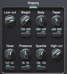 Audified ToneSpot Voice Pro Review Shaping controls