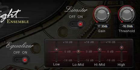SONiVOX Eighty Eight Ensemble Review limiter and equalizer image