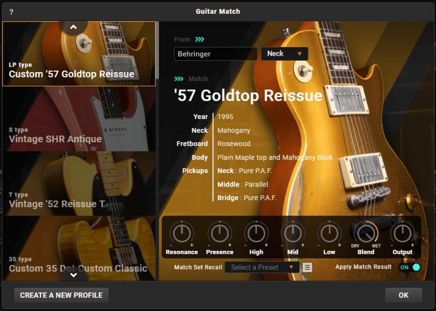 Positive Grid Bias FX 2 Review guitar match