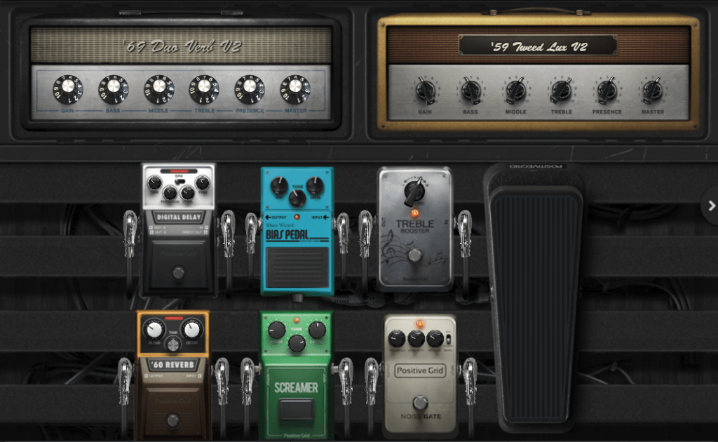 Positive Grid Bias FX 2 Review pedalboard view