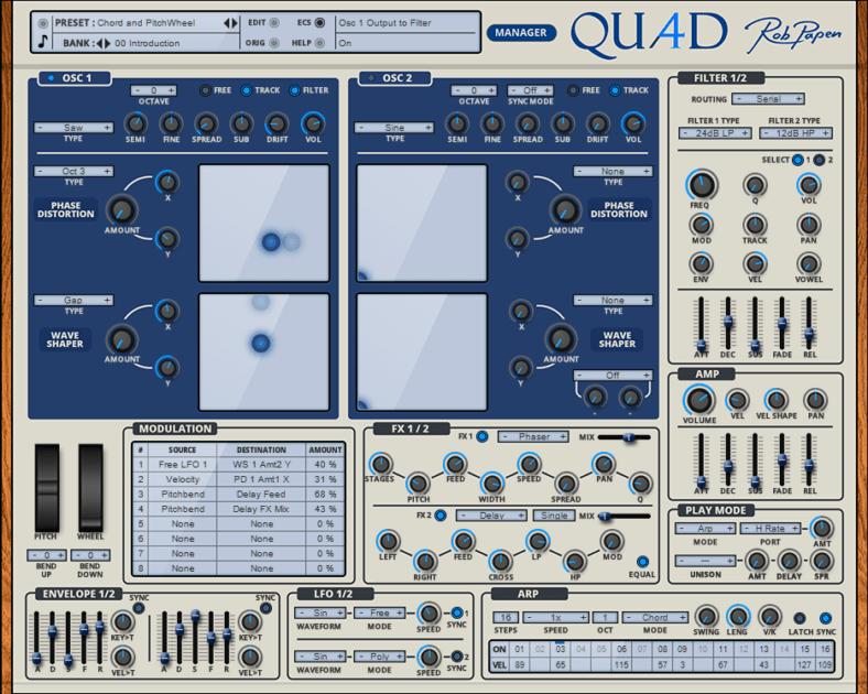Rob Papen QUAD Review main plugin image