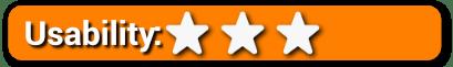 Usability 3 Stars