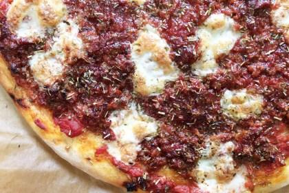 Barbecue Sausage Pizza