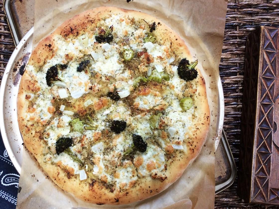 Chicken Sausage and Pesto Pizza