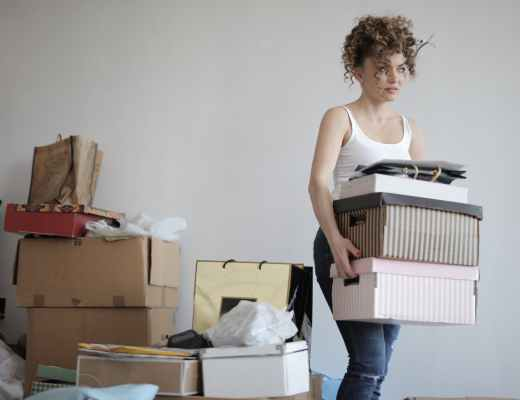 Declutter the home to lower stress