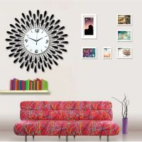 38+ Up In Arms About Art Makeup Peacock Living Room Luminous Quartz Electronic Watch Clock Wall 40