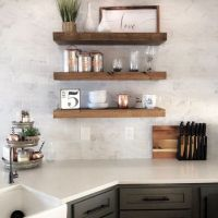 +42 Top Secret Facts About Soft Grey Kitchen With Brass And Timber Accents 1