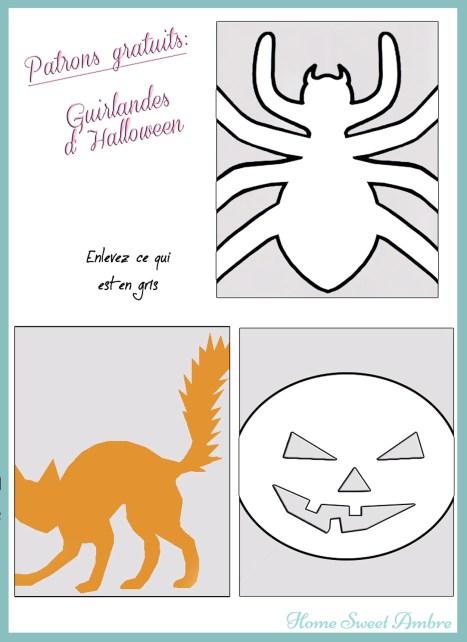 pattern patron halloween guirlande - homesweetambre