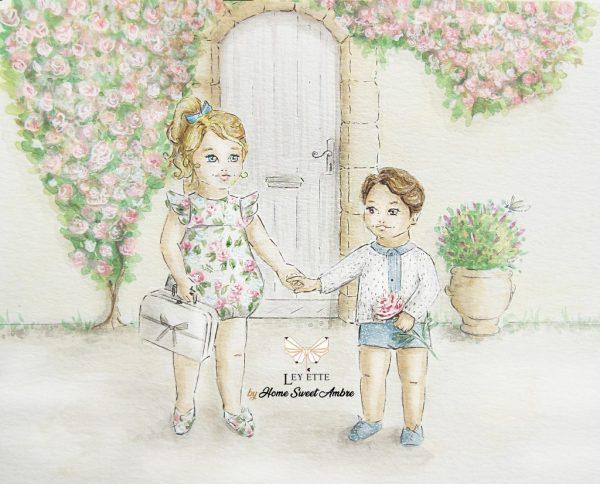 Illustratrice - illustration aquarelle par Home Sweet Ambre pour Ley Ette - image du site