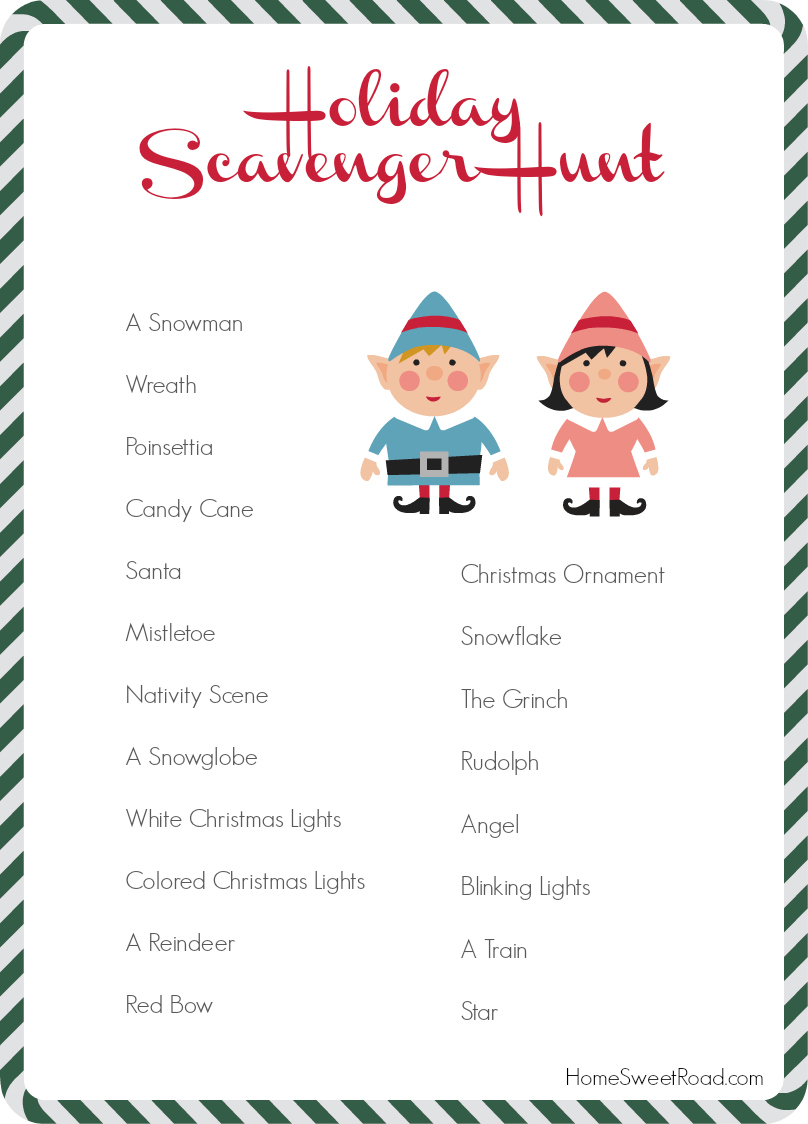 Wonderful Christmas Party Scavenger Hunt Ideas Part - 5: Scavenger Hunt Ideas