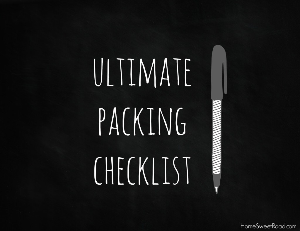 ultimate packing checklist