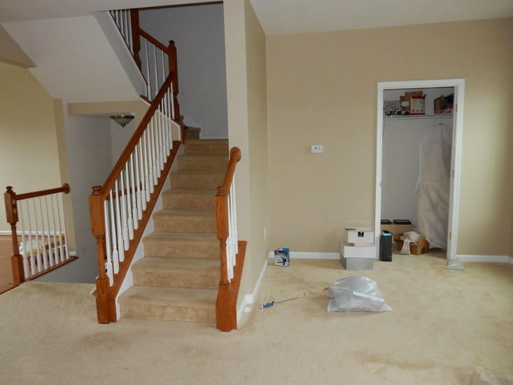 LR stairs before