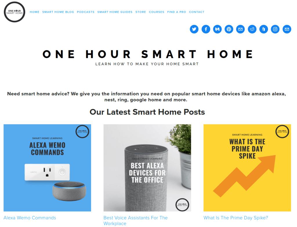 OneHourSmarthome Web site