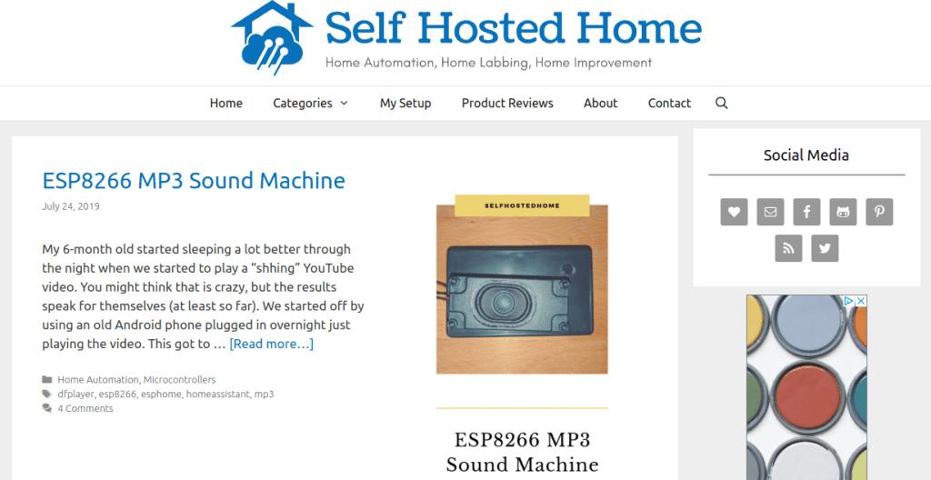 selfhostedhome smarthome blog