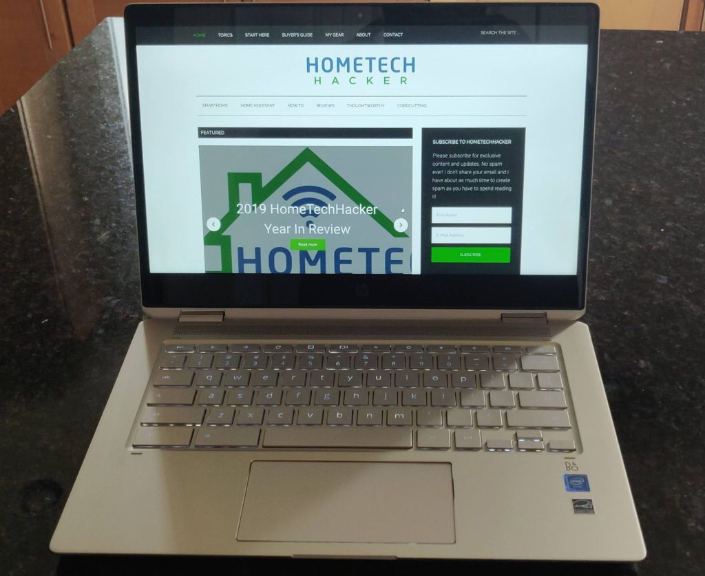HP Chromebook x360 14 front look