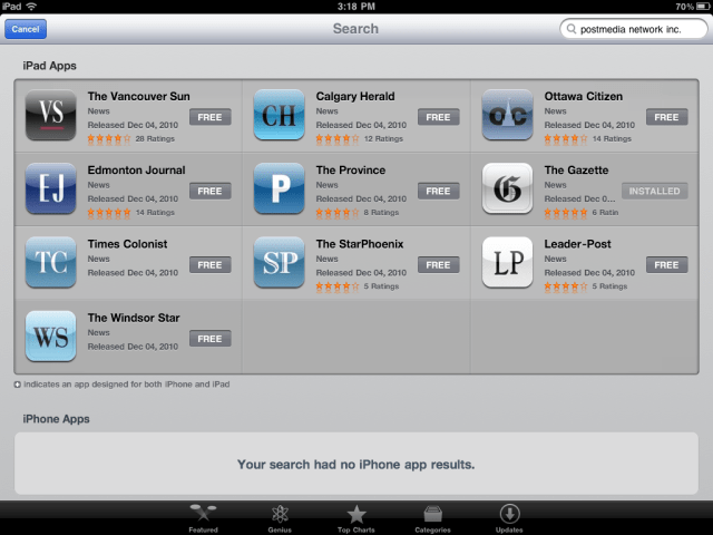 Read the Gazette? Now there's a app for that  nine other Postmedia