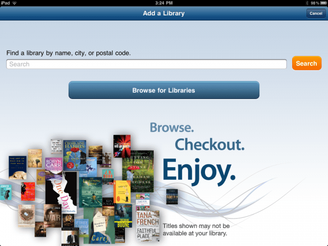 borrow e books and audio books from your local library there s an