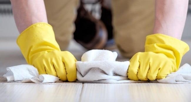 Drying the floor