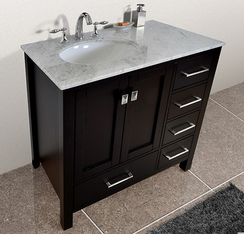 bathroom vanities with offset sinks a