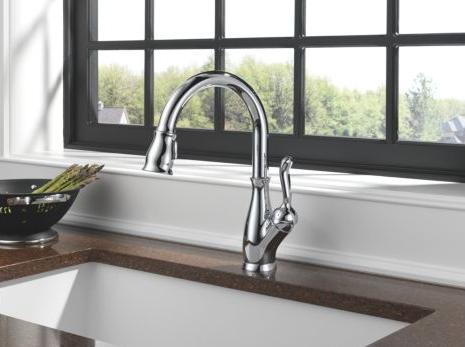 clean up with a touch activated faucet