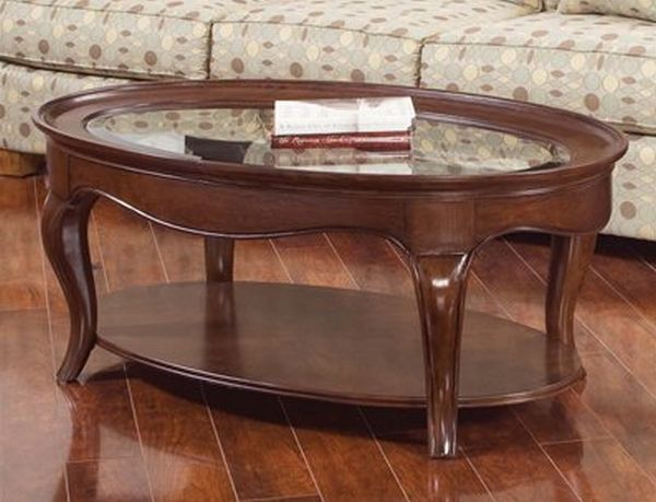 American Drew 091-911 Cherry Grove Oval Cocktail Coffee Table