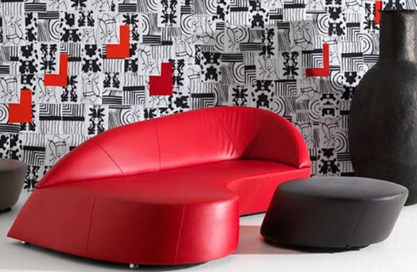 retro modern sofa morena by leolux