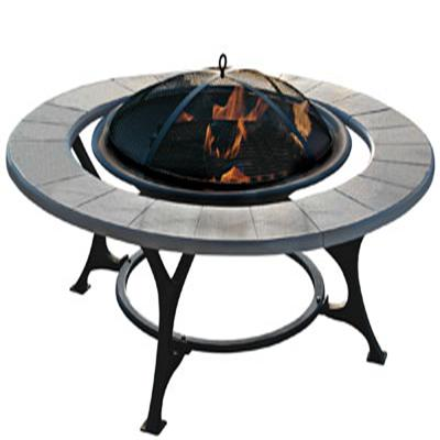the glowing firebowl with a fine mesh screen