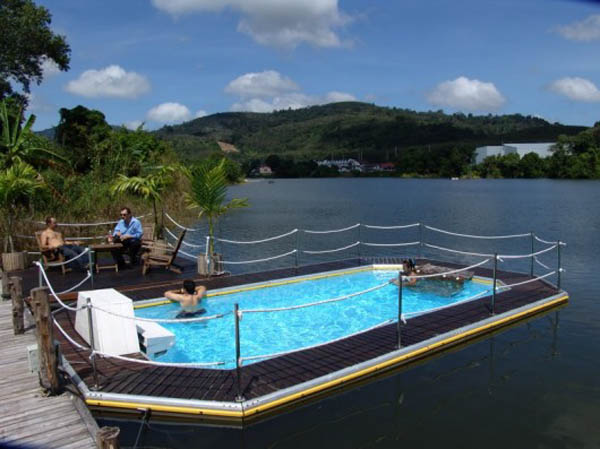 The floating swimming pool