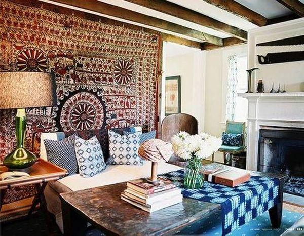Bohemian style ambiance