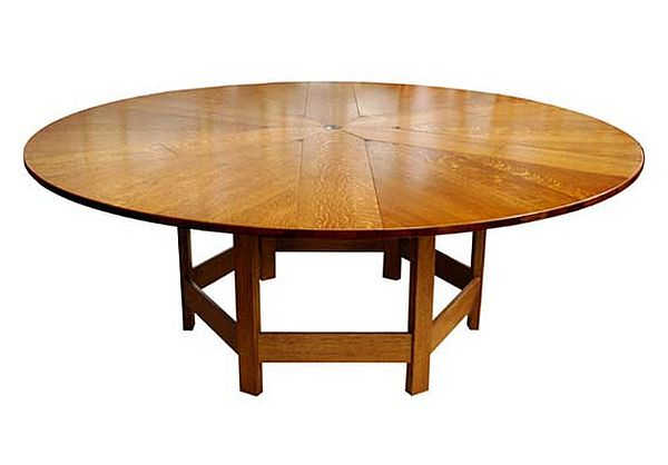 Round puzzle dining table