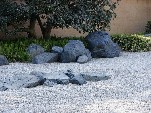backyard rock garden