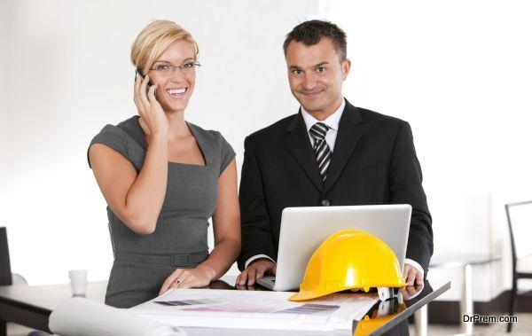 Architect with interior designer