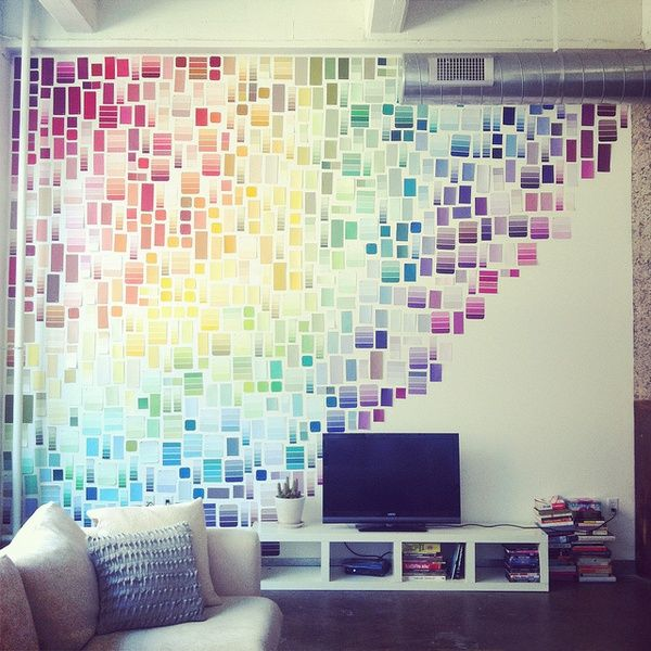 Paint swatch wall décor
