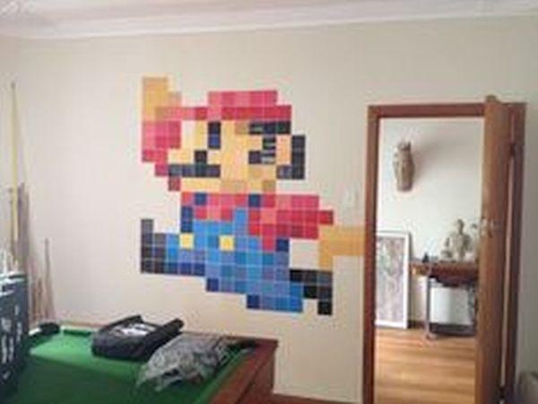 Wall Mario art décor