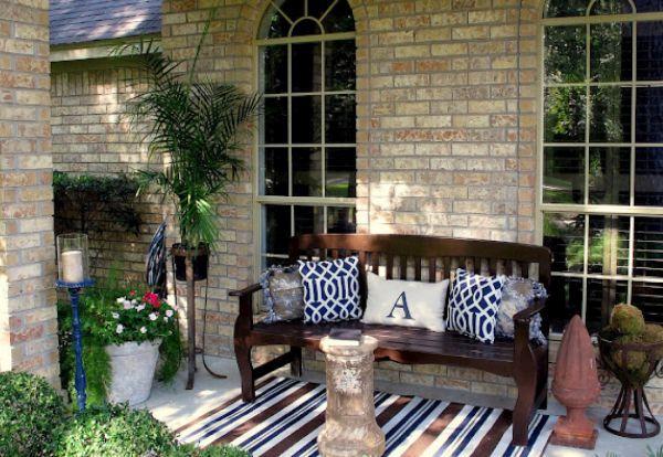 brown Furniture in porch