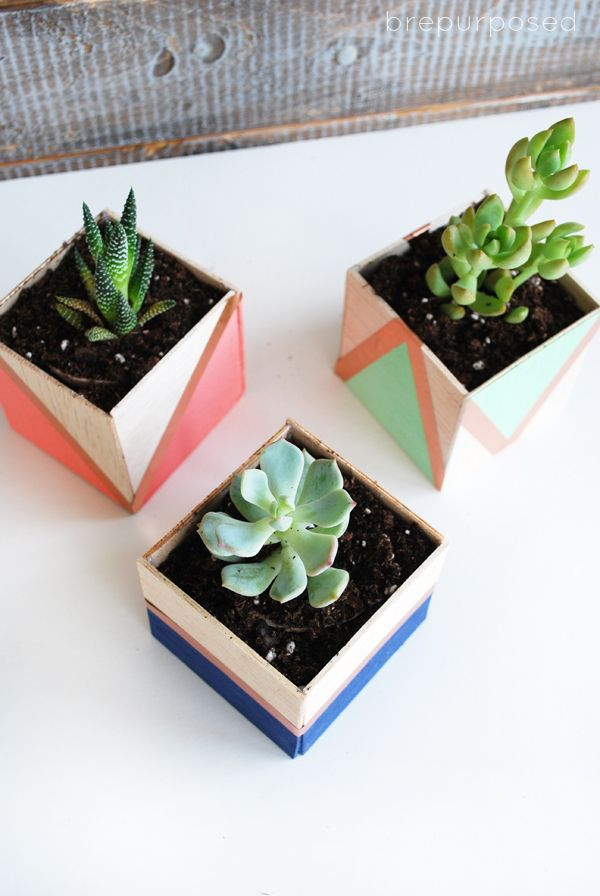 Color-block planters