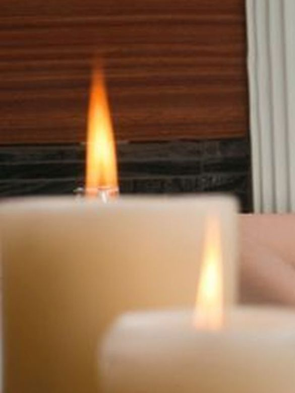 The relief from scented candles