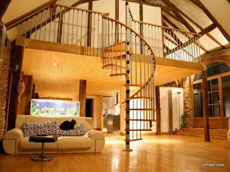 Painted Circular Staircase Ideas
