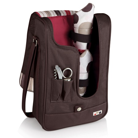 Barossa Moka Insulated Single Bottle Wine Tote