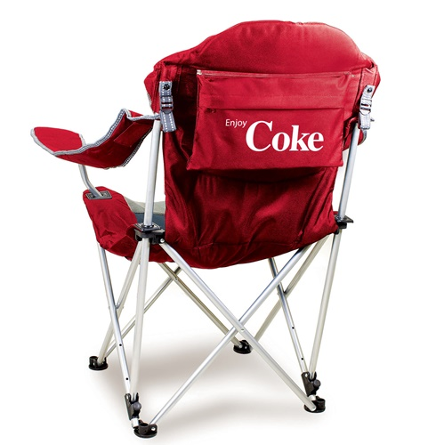Coca-Cola Red Reclining Camp Chair
