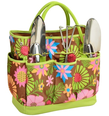 Floral Garden Tools Tote Set