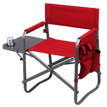 Folding Directors Chair With Side Table