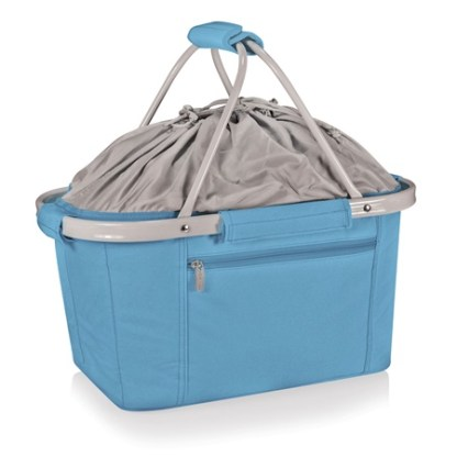 Metro Sky Blue Collapsible Canvas Basket
