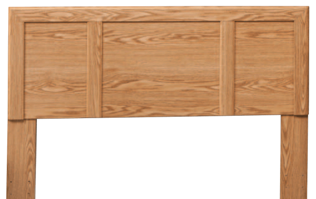 kith furniture oak twin full or queen panel headboard