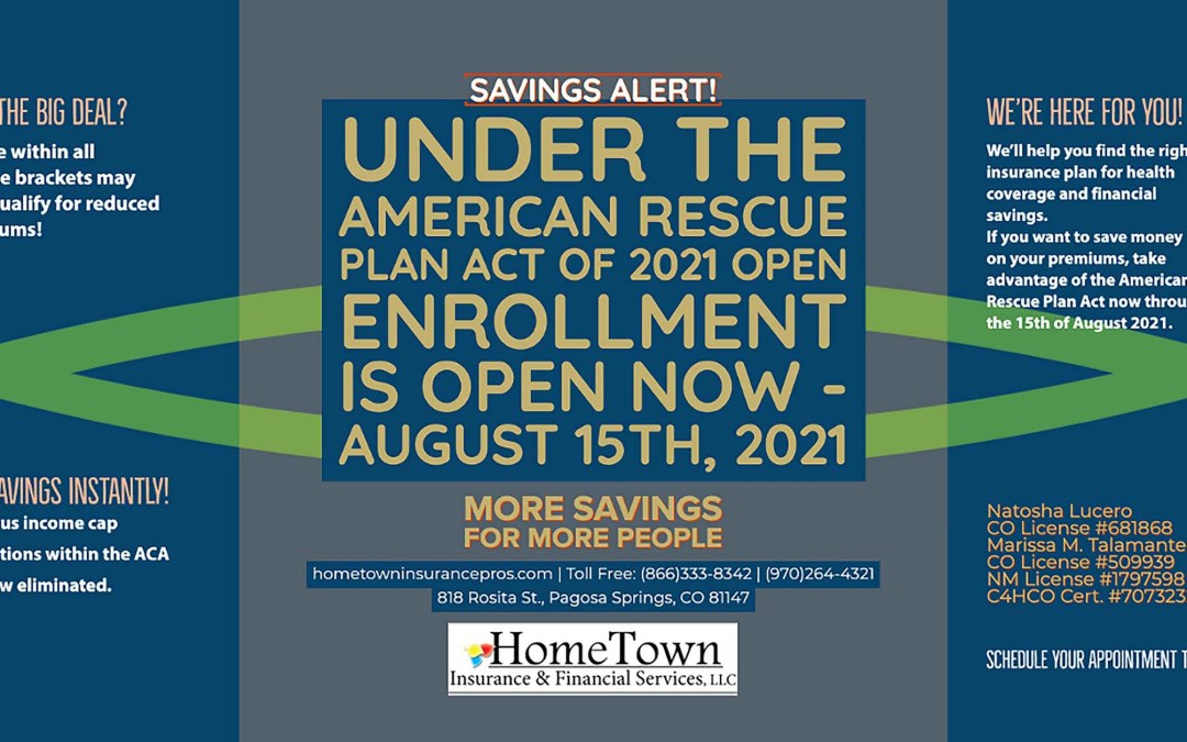 More Savings for More People – Health Insurance, Under the American Rescue Act of 2021 Reduces Premiums