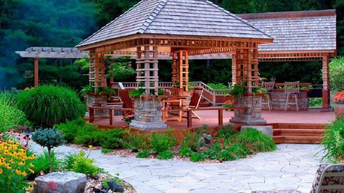Garden Backyard Design Ideas With Gazebo .jpg