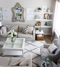 50 ++ Amazing Living Room Designs With Floating Shelves 125