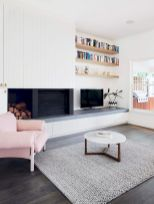 50 ++ Amazing Living Room Designs With Floating Shelves 162